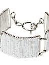 New Fashion Arc Type Rectangle Shape Hollow Out Knit Alloy Bracelets