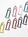 Презерватив Pattern Пластиковые завернутый Paper Clips (10PCS Случайный цвет)
