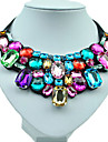 Women's Statement Necklaces Alloy Resin Rhinestone Simulated Diamond Fashion Jewelry Wedding Party Daily 1pc