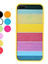 Жесткий прочный чехол для iPhone 5 с красочным дизайном (разные цвета)
