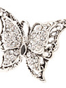 Butterfly Shaped Metal Diamond Adjustable Ring(Silver)
