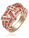 Eruner®Gold Plated Nickel Free Ring with Austrian Crystal (1 piece)