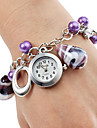 Women's Alloy Plastic Analog Quartz Bracelet Watch (Purple)