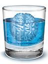 장난을 좋아하는 뇌 모양의 얼음 트레이 몰드 (임의 색상)