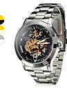 Résistant à l'eau en acier de style analogique montre-bracelet mécanique Homme (couleurs assorties)