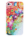 Colorful Flower Pattern Protective Hard Case for iPhone 4/4S