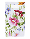 Caso elegante padrão de flor macio para LG Optimus P705 L7