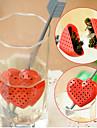 Красное сердце дизайн чайную ложку фильтр