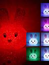 Crystal Rabbit Shaped Color Changing LED Night Light (USB)