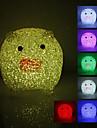 Crystal Pig Shaped Color Changing LED Night Light (USB)