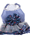 Dog Dress Blue Spring/Fall Polka Dots