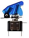 Azul DIY LED Iluminado Toggle On / Off Switch para carro (12V 20A)