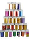 1шт лазерные фольги ногтя украшения звездные наклейки для ногтей № 43-48 (130x4.5x0.1cm, разные цвета)