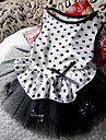 Bowknot Decorated Spot Pattern Mesh Splicing Dresses for Dogs(XS-L)