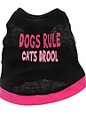 Dog Shirt / T-Shirt Black Dog Clothes Spring/Fall Hearts / Letter & Number