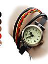 Mulheres Bracele Relógio Japanês Quartzo Couro Legitimo Banda Boêmio Preta Marrom Cores MúltiplasPreto Marron Vermelho Castanho Claro