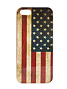 Retro US Flag Pattern Hard Case for iPhone 5/5S