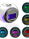 Crystal Ball Style Colorful Light Digital Alarm Clock Calendar Thermometer Timer (3xAAA)