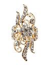 꽃모양 인조 다이아몬드 조절가능한 반지