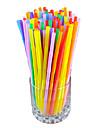 Разноцветные трубочки для коктейлей, 100 шт