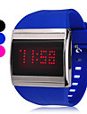 Unisex Touch Screen siliconen band Led digitale horloge (assorti kleur)