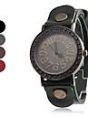 Кварцевые аналоговые женщин старинных случае Кожаный ремешок наручные часы (разных цветов)