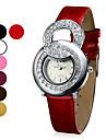 Модное женщины Тип аналогового PU кварцевые наручные часы (разных цветов)