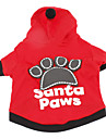 Dog Hoodie Red / Black Dog Clothes Winter Letter & Number