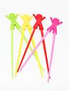 Портативный силиконовая кукла обучения палочки для еды (1 пара случайных цветов)