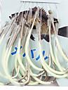 Серебристые крючок для рыбалки в открытом море с 45CM-Line (30 шт / упаковка) 12 # -15 # HQ002 (желтый)