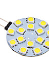 2W G4 Двухштырьковые LED лампы 15 SMD 5050 150 lm Естественный белый AC 12 V