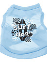 Dog Shirt / T-Shirt Dog Clothes Holiday Casual/Daily Letter & Number Blue