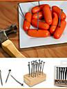 criativa ferro nail design da fruta lanche pega garfos reutilizáveis (18-pack)
