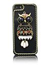 Acrylic Zircon Owl Pattern Hard Case for iPhone 5/5S(Random Colors)