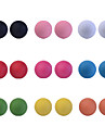 lureme®cute de bonbons de couleur perle boucle d'oreille (9 paires)
