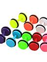 eruner®6mm brincos padrão doce cor de titânio aço dumbbell (cores sortidas)