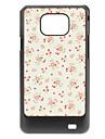 cas dur de modèle de fleur pour Samsung Galaxy S2 I9100