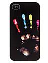 iPhone 4/4S를위한 색깔 된 손 인쇄 패턴 하드 케이스
