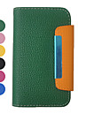Candy Color Wallet Pattern Full Body Leather Case for iPhone 4/4S(Assorted Colors)