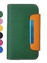 Motif pleine caisse de sucrerie de couleur de la pochette du corps en cuir pour iPhone 4/4S (couleurs assorties)
