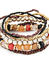 Eruner®Alloy Bead Connected Multi-row Bracelet(Assorted Colors)
