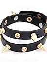 Punk Style Rivet Double-row Leather Bracelet(Assorted Colors)