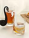백조 모양의 작은 술, 차 여과기 (색상 랜덤)