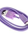 фиолетовый USB мужчина к Micro USB мужчин кабель для Samsung (1 м)