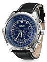 Men's Watch Auto-Mechanical Dress Watch Calendar Leather Band