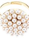 Anéis Diário Jóias Liga Feminino Maxi anel 1peça,8 Branco
