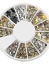 yemannvyou®240pcs arte do prego de ouro rebite mista formas de strass acrílico (cor aleatória)