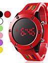 Masculino Mulheres Unissex Relógio Esportivo Digital LED Silicone Banda Preta Branco Vermelho Verde Rosa Roxa AmareloRoxo Amarelo
