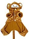 Собаки Костюмы / Толстовки / Инвентарь Коричневый Одежда для собак Зима Животный принт Косплей / Хэллоуин