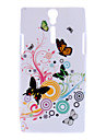 Colorful Butterfly Pattern Soft Case for Sony Xperia S LT26i